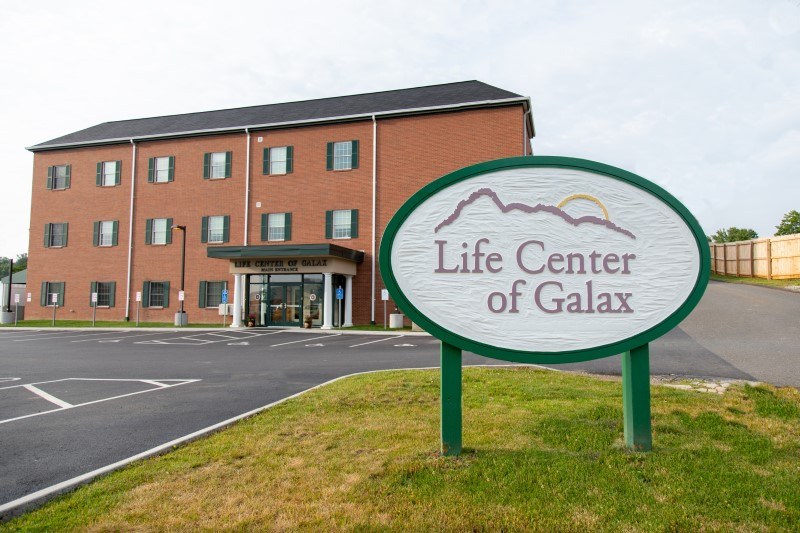 The entrance sign at Life Center of Galax