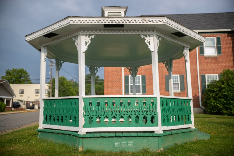 The gazebo outside Life Center of Galax