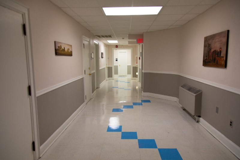 A hallway in Life Center of Galax